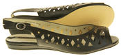 Womens Ladies Elisabeth Leather Designer Peep-Toe Fashion Sandals Thumbnail 8