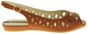 Womens Ladies Elisabeth Leather Designer Peep-Toe Fashion Sandals Thumbnail 9