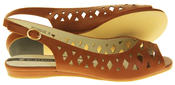 Womens Ladies Elisabeth Leather Designer Peep-Toe Fashion Sandals Thumbnail 10