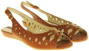 Womens Ladies Elisabeth Leather Designer Peep-Toe Fashion Sandals Thumbnail 11