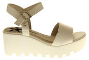 Womens Ladies Betsy Leather Summer Platform Shoes Wedge Heel Sandals Thumbnail 8