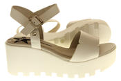 Womens Ladies Betsy Leather Summer Platform Shoes Wedge Heel Sandals Thumbnail 9