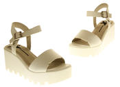 Womens Ladies Betsy Leather Summer Platform Shoes Wedge Heel Sandals Thumbnail 12
