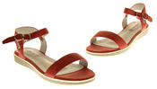 Womens Ladies Keddo Leather Designer Peep-Toe Summer Fashion Sandals Thumbnail 7