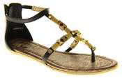 Womens Ladies Betsy Synthetic Leather Summer Sandals Thumbnail 2