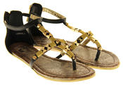 Womens Ladies Betsy Synthetic Leather Summer Sandals Thumbnail 5