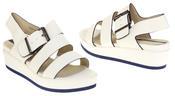Womens Ladies Designer Betsy Leather Wedges Heels Summer Sandals Thumbnail 6