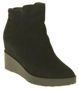 Womens Betsy Suede Leather Hidden Wedge Ankle Boots Thumbnail 2