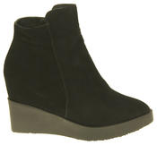 Womens Betsy Suede Leather Hidden Wedge Ankle Boots Thumbnail 3