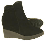 Womens Betsy Suede Leather Hidden Wedge Ankle Boots Thumbnail 4