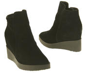 Womens Betsy Suede Leather Hidden Wedge Ankle Boots Thumbnail 6
