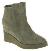 Womens Betsy Suede Leather Hidden Wedge Ankle Boots Thumbnail 7