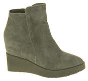 Womens Betsy Suede Leather Hidden Wedge Ankle Boots Thumbnail 8