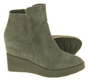 Womens Betsy Suede Leather Hidden Wedge Ankle Boots Thumbnail 9