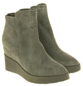 Womens Betsy Suede Leather Hidden Wedge Ankle Boots Thumbnail 10