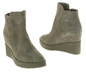 Womens Betsy Suede Leather Hidden Wedge Ankle Boots Thumbnail 11