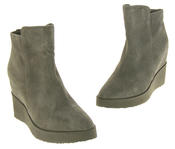 Womens Betsy Suede Leather Hidden Wedge Ankle Boots Thumbnail 12