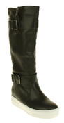 Womens Betsy Synthetic Leather Ankle Or Knee High Boots Thumbnail 7