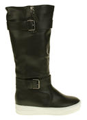 Womens Betsy Synthetic Leather Ankle Or Knee High Boots Thumbnail 8