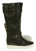 Womens Betsy Synthetic Leather Ankle Or Knee High Boots Thumbnail 9