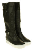 Womens Betsy Synthetic Leather Ankle Or Knee High Boots Thumbnail 10