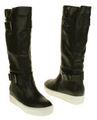 Womens Betsy Synthetic Leather Ankle Or Knee High Boots Thumbnail 11