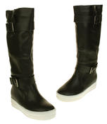 Womens Betsy Synthetic Leather Ankle Or Knee High Boots Thumbnail 12