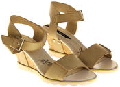 Womens Ladies Elisabeth Leather  Strappy Platform Shoes High Heel Wedge Sandals Thumbnail 11