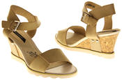 Womens Ladies Elisabeth Leather  Strappy Platform Shoes High Heel Wedge Sandals Thumbnail 12
