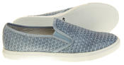 Womens Ladies Keddo Leather Casual Slip On Flat Weave Design Espadrille Pumps Thumbnail 9
