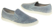 Womens Ladies Keddo Leather Casual Slip On Flat Weave Design Espadrille Pumps Thumbnail 11