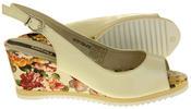 Womens Ladies Betsy Leather High Heel Peep-Toe Wedged Buckle Fastening Sandals Thumbnail 9