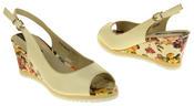 Womens Ladies Betsy Leather High Heel Peep-Toe Wedged Buckle Fastening Sandals Thumbnail 11