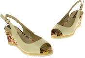 Womens Ladies Betsy Leather High Heel Peep-Toe Wedged Buckle Fastening Sandals Thumbnail 12