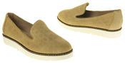 Womens Ladies Keddo Designer Leather Flat Casual Slip On Espadrille Pumps Thumbnail 6