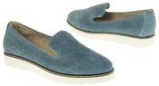 Womens Ladies Keddo Designer Leather Flat Casual Slip On Espadrille Pumps Thumbnail 11