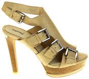 Womens Ladies Platform Heeled Strappy Fashion Sandals High Heel Shoes Thumbnail 3