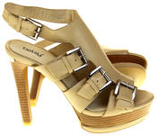 Womens Ladies Platform Heeled Strappy Fashion Sandals High Heel Shoes Thumbnail 4