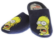 Mens Navy Blue Simpsons Adams Comfy Fleece Mule Slippers Thumbnail 7