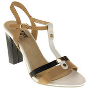 Womens Ladies Betsy High Heel Strappy Buckle Fastening Heeled Sandals Thumbnail 2