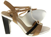 Womens Ladies Betsy High Heel Strappy Buckle Fastening Heeled Sandals Thumbnail 4