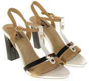 Womens Ladies Betsy High Heel Strappy Buckle Fastening Heeled Sandals Thumbnail 5