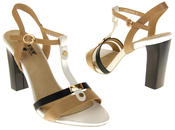 Womens Ladies Betsy High Heel Strappy Buckle Fastening Heeled Sandals Thumbnail 6