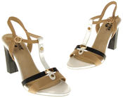 Womens Ladies Betsy High Heel Strappy Buckle Fastening Heeled Sandals Thumbnail 7