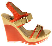 Womens Ladies Betsy High Heel Wedged Heeled Sandals Thumbnail 3
