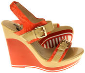 Womens Ladies Betsy High Heel Wedged Heeled Sandals Thumbnail 4