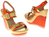 Womens Ladies Betsy High Heel Wedged Heeled Sandals Thumbnail 6