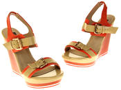 Womens Ladies Betsy High Heel Wedged Heeled Sandals Thumbnail 7