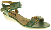 Womens Ladies Elisabeth Leather Flat Strappy Fashion Sandals Thumbnail 2