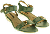 Womens Ladies Elisabeth Leather Flat Strappy Fashion Sandals Thumbnail 4